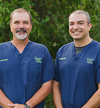 Dr. Bert Vasut and Dr. Dan Boboia of Cedar Park Pediatric Dentistry